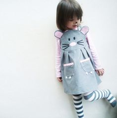 Mouse girls dress. $59.00, via Etsy. What do you think @Ames A. and @Chelsea Stevens a mini mouse?