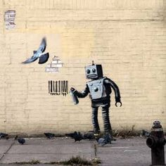 Banksy's Graffiti, Animated Banksy Artist, Banksy Graffiti, Serbian, Animation, Motion Design, Cartoons