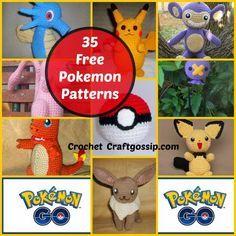 The Ulitimate FREE Pokemon Crochet Patterns Over 35 Designs