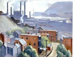Richard Harrison Crist - Steel works on Monongahela, 1933