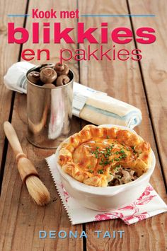 Kook met blikkies en pakkies:  This book was specially written for those of us who stare at the contents of the larder and the fridge and wonder what can be conjured up from the available. Working parents and busy professionals will be equally grateful for the innovative recipes  which show how to turn ordinary store cupboard tins and packets into a meal fit for a king.