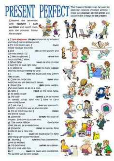 Present perfect interactive and downloadable worksheet. Check your answers online or send them to your teacher.