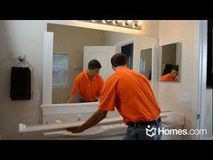"""Homes.com DIY Experts Share How-to Frame a """"Builder Grade"""" Mirror"""