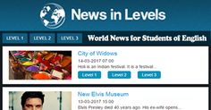 We write news in three different levels of English. We want to help you understand English more. Now all students can enjoy reading and listening to news.