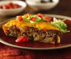 Impossibly Easy Taco Pie (Gluten Free)Impossibly Easy Taco Pie (Gluten Free)