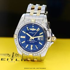 Pre-owned Breitling Galactic 41 b49350LA/c809/366d in Gently Used to Excellent Condition from The Most Trusted Name in Luxury Watches. PrestigeTime.com