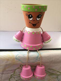 Terracotta Flower Pots, Clay Flower Pots, Flower Pot Crafts, Clay Pots, Clay Pot Projects, Clay Pot Crafts, Diy Clay, Flower Pot People, Clay Pot People
