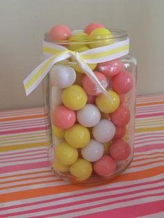 Hostess with the Mostess® - Pink Lemonade Yellow Candy, Colorful Candy, Pink Yellow, Pink Parties, Summer Parties, Pink Lemonade Party, Fairy Cakes, Ball Jars, Candyland
