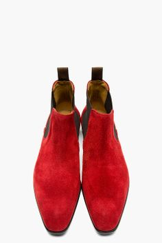 PS PAUL SMITH Burgundy suede FACONER boots