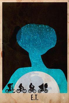 ET's film poster by Harshness / Affiche de film ET par Harshness