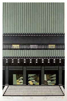 Woodblock prints by Ray Morimura