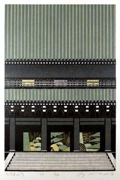 Woodblock prints by Ray Morimura