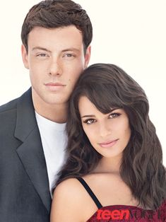 A pair of Glee stars strike a pose here for the December 2010 issue of Teen Vogue. Say hello to Cory Monteith and Lea Michele. Glee Episodes, Finn Glee, Glee Rachel And Finn, Lea Michele Glee, Glee Cory Monteith, Lea And Cory, Glee Club, Rachel Berry, Kino Film