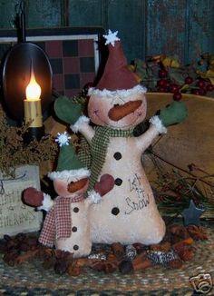 Primitive Patti/'s Ratties Christmas Santa Claus Doll Ornie Paper Pattern #537