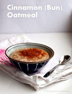 Ketunhäntä keittiössä: Cinnamon Bun Oatmeal