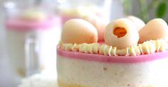 荔枝慕斯蛋糕 (Lychee Yogurt Mousse Cake)