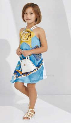 ALALOSHA: VOGUE ENFANTS: Young Versace SS15 creates rich shades with Iconic Medusa motif, Greek Fret and Baroque prints