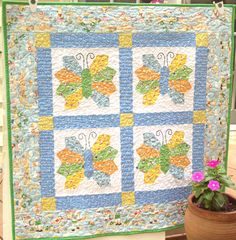 Storybook Vacation Butterflies Pattern and/or kit available through Keepsake Quilting catalog: http://www.keepsakequilting.com/storybook-butterflies-kit