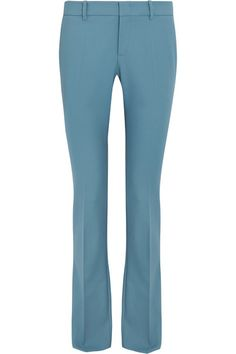 Gucci - Stretch-wool Flared Pants - Sky blue - IT46
