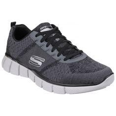 Equalizer 2.0 True Balance Grey/Black Skechers Sneakers, Mens Skechers, Mens Training Shoes, Training Sneakers, Cross Training Shoes, Skechers Relaxed Fit, New Balance Men, Mens Trainers