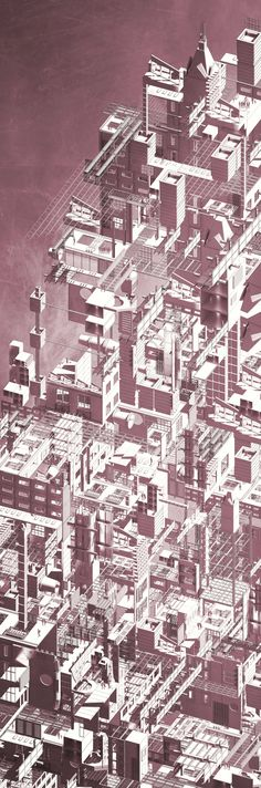 MSD M.Arch S2/16 - Sophie Farmer. Independent Thesis. Supervisor: Justyna Karakiewicz. Elizavic - conceptual potential of a speculative future system of hybrid architecture using reformatted fragments from Melbourne.