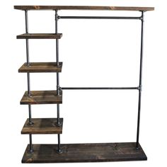 Industrial Double Bar Clothing Rack, Shop Maverick Industrial for Garment Racks to match your style and budget. Use as a free-standing closet, retail display, trade show display and more. Upcycling T Shirts, Pipe Clothes Rack, Clothing Racks, Rustic Clothes Racks, Diy Clothes, Clothes Stand, Pipe Closet, Closet Racks, Standing Closet