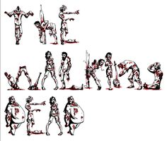 The Walking Dead. zombie font - this is so cool, type any letters and the words are spelled out in zombie fonts. Try it !!! www.zombiefont.com