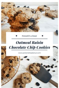 OATMEAL RAISIN CHOCOLATE CHIP COOKIES - Pretend it's a Donut