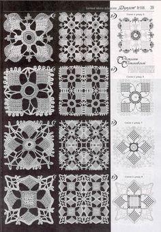 crochet lace granny square More