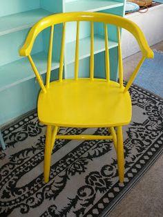 Blue Corner: Sunny Yellow Chair