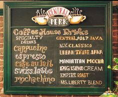 F.R.I.E.N.D.S Central Perk Sign- DIY chalkboard and frame and recreate!