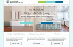 Kitchens and Bathrooms first website design and architecture. http://bathroomsfirst.ca/