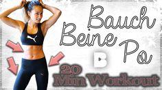 Bauch Beine Po Workout für Zuhause zum mitmachen. Anklicken und loslegen :)