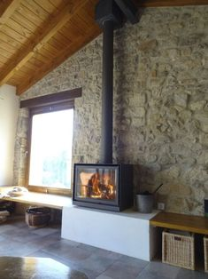 Adding A Fireplace and Chimney to A House . Adding A Fireplace and Chimney to A House . Adding A Fireplace Adding A Fireplace to A House Artificial Home Fireplace, Fireplace Design, Fireplaces, Chimenea Simple, Wood Stove Chimney, Wood Burning Tips, Modern Wood Burning Stoves, Freestanding Fireplace, Wooden Ceilings