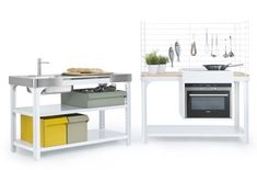 Concept Kitchen by Kilian Schindler for Naber - Modular, minimal kitchen system.
