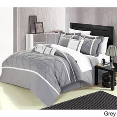 @Overstock.com - Vermont 8-piece Comforter Set - This opulent comforter set offers character and a sense of style that will sure add a sophisticated look alongside simplicity to your bedroom.  http://www.overstock.com/Bedding-Bath/Vermont-8-piece-Comforter-Set/8625688/product.html?CID=214117 $89.99