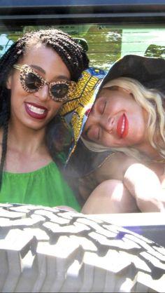 Beyonce and Solange  2013 #Beyoncé #QueenBey #MrsCarter