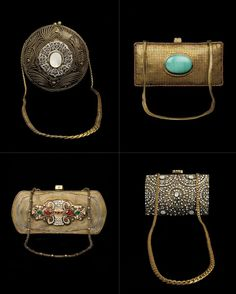 Pretty, intricate, hand-crafted purses by Malaga and Twisha & Alisha Chinai on sale at Exclusively In. Magical!