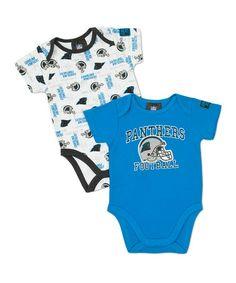 Blue Carolina Panthers Bodysuit Set - Infant e53614c2b