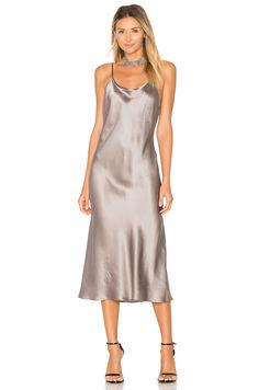 Amanda Uprichard x REVOLVE Slip Dress in Platinum | REVOLVE