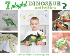 LOVE these Playful Dinosaur Activities for dino-lovin' kids...I would have never thought of #2 or #4!