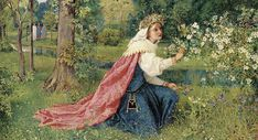 "George Dunlop Leslie (English, 1835-1921), ""Matilda - Dante, Purgatorio, Canto 28"" 