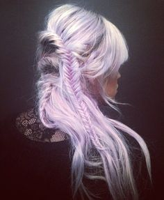 Lavender hair, fishtail If I ever dye my hair it will look like this, every day, #lavender
