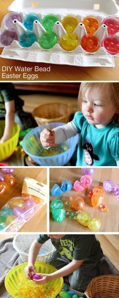 Water bead Easter Eggs - A great candy-free alternative for the Easter basket this year.