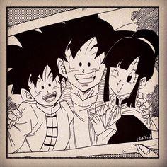 Dbz, Goku And Gohan, Son Goku, Goku E Chichi, Dragon Ball Z, 2000s Cartoons, Goku Pics, Boy Art, Gorillaz