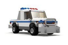 Custom LEGO Police Pickup Truck http://www.custombricksets.com/product/lego-police-pickup-truck/