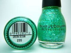 Sinful Colors Nail Polish Green Ocean 220 (Original)