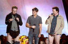 Zac Efron, Seth Rogen & Danny Mcbride presenting at the MTV Movie Awards 2013