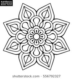 Immagine vettoriale stock 556792327 a tema Flower Mandalas Vintage Decorative Elements Oriental (royalty free) Mandala Coloring Pages, Colouring Pages, Adult Coloring Pages, Coloring Books, Motif Oriental, Oriental Pattern, Mandala Art Lesson, Mandala Drawing, Thai Art
