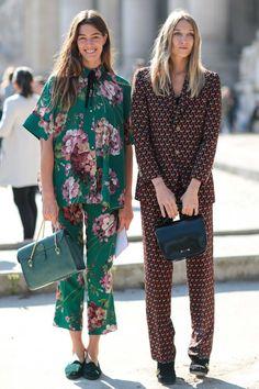Antonine Peduzzi trägt Gucci von Kopf bis Fuß – die Bluse würde aber auch schon reichen! #streetstyle